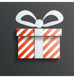 Christmas gift icon with shadow vector