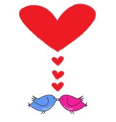 birdlove vector image