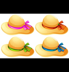 Fashionable hats vector