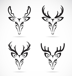 Group of deer head vector