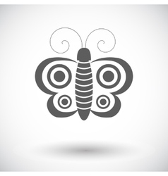 Butterfly single icon vector