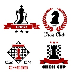 Chess cup club and tournament symbols vector
