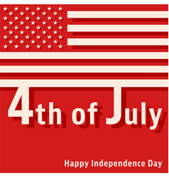 4th of july - happy independence day vector image vector image