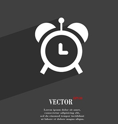 Alarm clock symbol flat modern web design with vector