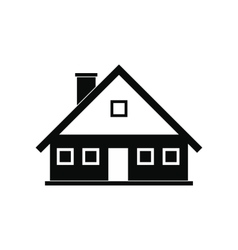 Cottage black simple icon vector