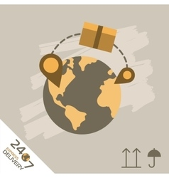 Express delivery symbols worldwide shipping vector