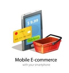 Mobile e-commerce concept vector image