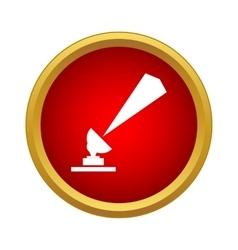 Radar dish icon in simple style vector image