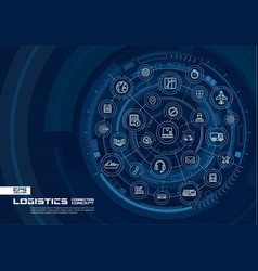 abstract logistic and distribution background vector image vector image