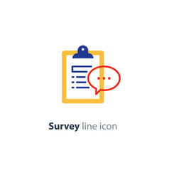 brief report icon to do list and speech bubble vector image
