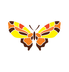 Butterfly abstract sign vector