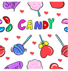 Candy sweet doodle style vector