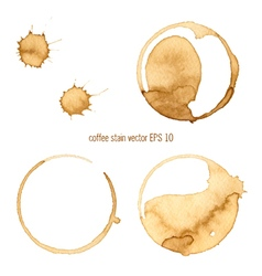 Coffee abstract watercolor vector image