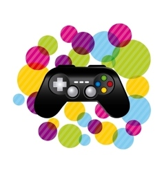 Control with striped circles icon video game vector