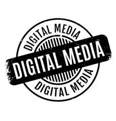 Digital media rubber stamp vector
