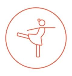 Female figure skater line icon vector