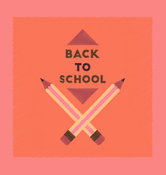 Flat shading style icon back to school pencil vector