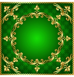 green background a frame vector image vector image