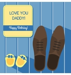 Happy birthday for father Greeting card design vector image vector image
