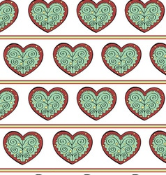 Heart Endless Seamless Pattern vector image