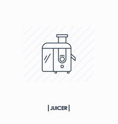 juicer outline icon isolated vector image vector image