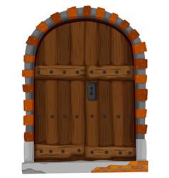 medieval style of wooden door vector image vector image