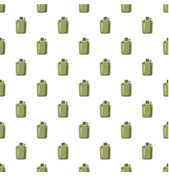 Military flask pattern vector