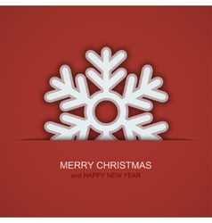 modern christmas snowflakes on red vector image vector image