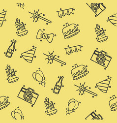party concept icons pattern vector image vector image