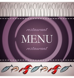 Restaurant menu design with seafood icons vector