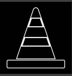 road cone it is icon vector image
