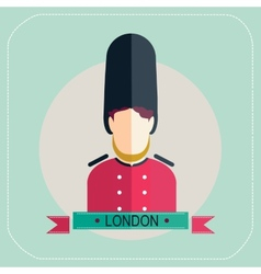 Royal guard icon vector