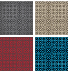 Seamless gothic pattern vector image