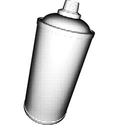 Spray can halftone shading in black and white vector