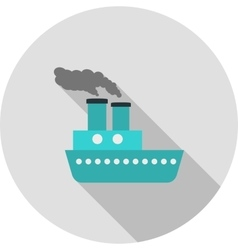 Steamboat vector image