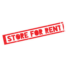 Store for rent rubber stamp vector