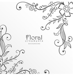 Stylish modern floral background design vector