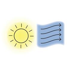 Sun and wind vector