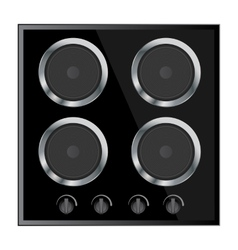 surface for electric stove vector image