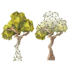 tree in low poly style vector image