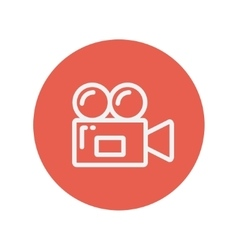Video camera thin line icon vector