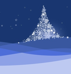 Xmas banner christmas tree vector