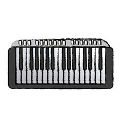 Musical piano key keyboard melody instrument vector