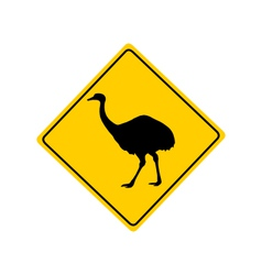 Rhea warning sign vector image