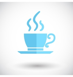 Cafe single icon vector