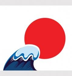 japan tsunami symbol vector image