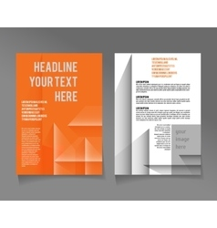 Brochure template design with cubes and vector