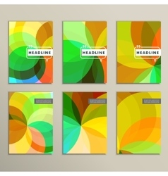 Set of 6 covers with abstract patterns vector