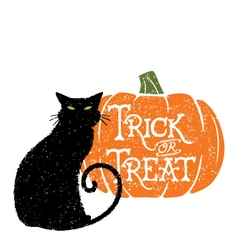 Trick or treat cat 2 vector