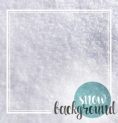 Background realistic snow and calligraphic vector